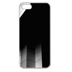 Wall White Black Abstract Apple Seamless Iphone 5 Case (clear)