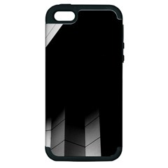 Wall White Black Abstract Apple iPhone 5 Hardshell Case (PC+Silicone)