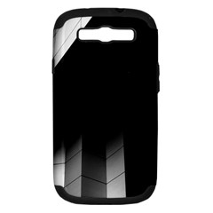 Wall White Black Abstract Samsung Galaxy S Iii Hardshell Case (pc+silicone)