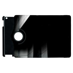 Wall White Black Abstract Apple Ipad 3/4 Flip 360 Case