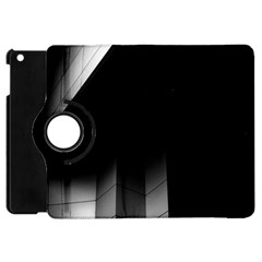 Wall White Black Abstract Apple Ipad Mini Flip 360 Case