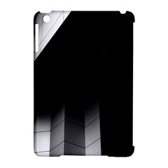 Wall White Black Abstract Apple Ipad Mini Hardshell Case (compatible With Smart Cover)