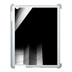 Wall White Black Abstract Apple Ipad 3/4 Case (white)