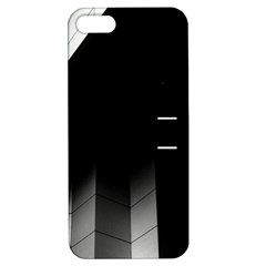 Wall White Black Abstract Apple Iphone 5 Hardshell Case With Stand