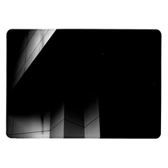 Wall White Black Abstract Samsung Galaxy Tab 10.1  P7500 Flip Case