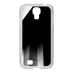Wall White Black Abstract Samsung Galaxy S4 I9500/ I9505 Case (white)