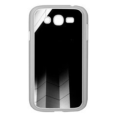 Wall White Black Abstract Samsung Galaxy Grand Duos I9082 Case (white)