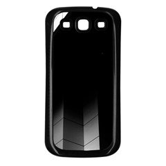 Wall White Black Abstract Samsung Galaxy S3 Back Case (black)