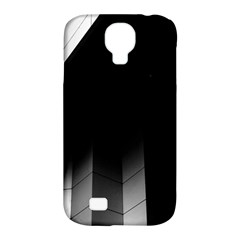 Wall White Black Abstract Samsung Galaxy S4 Classic Hardshell Case (pc+silicone)