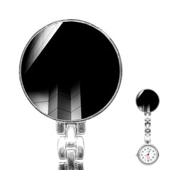 Wall White Black Abstract Stainless Steel Nurses Watch