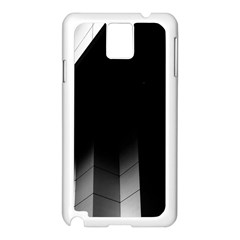 Wall White Black Abstract Samsung Galaxy Note 3 N9005 Case (white)