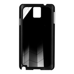 Wall White Black Abstract Samsung Galaxy Note 3 N9005 Case (black)