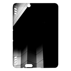 Wall White Black Abstract Kindle Fire Hdx Hardshell Case