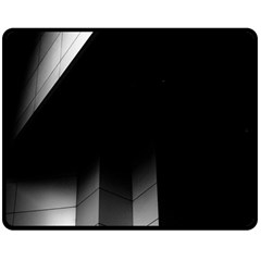 Wall White Black Abstract Double Sided Fleece Blanket (medium)