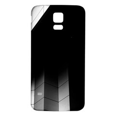 Wall White Black Abstract Samsung Galaxy S5 Back Case (white)