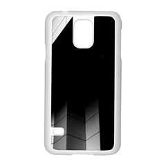 Wall White Black Abstract Samsung Galaxy S5 Case (White)