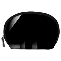 Wall White Black Abstract Accessory Pouches (large)