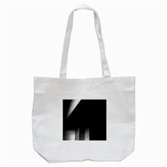 Wall White Black Abstract Tote Bag (white)