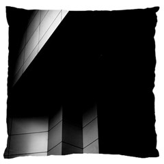 Wall White Black Abstract Large Flano Cushion Case (two Sides)