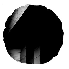 Wall White Black Abstract Large 18  Premium Flano Round Cushions