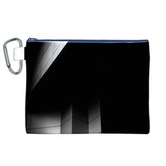 Wall White Black Abstract Canvas Cosmetic Bag (XL)