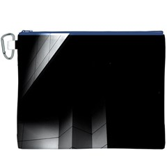 Wall White Black Abstract Canvas Cosmetic Bag (xxxl)