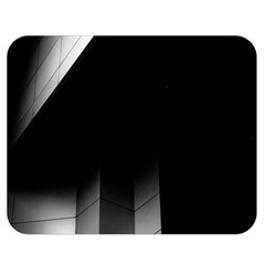 Wall White Black Abstract Double Sided Flano Blanket (medium)