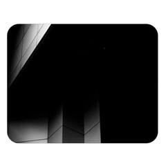 Wall White Black Abstract Double Sided Flano Blanket (Large)