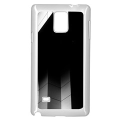 Wall White Black Abstract Samsung Galaxy Note 4 Case (white)