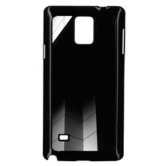 Wall White Black Abstract Samsung Galaxy Note 4 Case (Black)