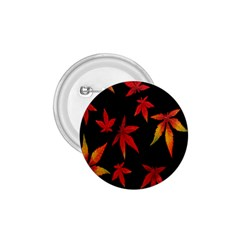 Colorful Autumn Leaves On Black Background 1 75  Buttons