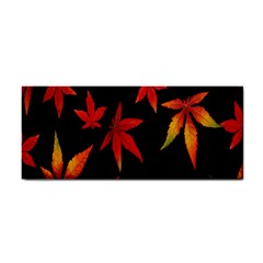Colorful Autumn Leaves On Black Background Cosmetic Storage Cases