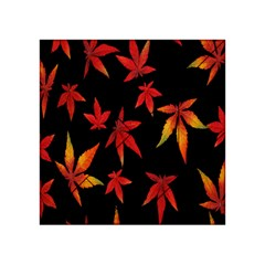 Colorful Autumn Leaves On Black Background Acrylic Tangram Puzzle (4  X 4 )