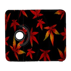 Colorful Autumn Leaves On Black Background Galaxy S3 (flip/folio)
