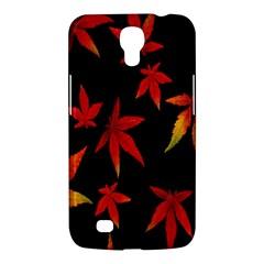 Colorful Autumn Leaves On Black Background Samsung Galaxy Mega 6.3  I9200 Hardshell Case