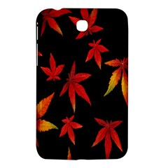 Colorful Autumn Leaves On Black Background Samsung Galaxy Tab 3 (7 ) P3200 Hardshell Case