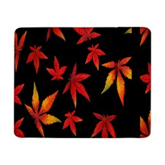 Colorful Autumn Leaves On Black Background Samsung Galaxy Tab Pro 8.4  Flip Case