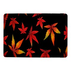 Colorful Autumn Leaves On Black Background Samsung Galaxy Tab Pro 10 1  Flip Case