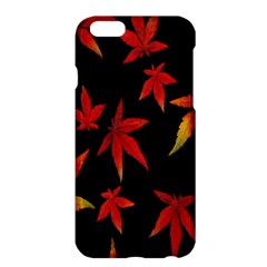 Colorful Autumn Leaves On Black Background Apple Iphone 6 Plus/6s Plus Hardshell Case