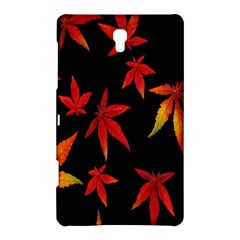 Colorful Autumn Leaves On Black Background Samsung Galaxy Tab S (8 4 ) Hardshell Case