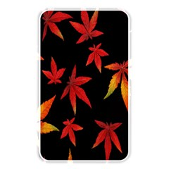 Colorful Autumn Leaves On Black Background Memory Card Reader