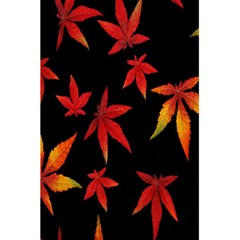 Colorful Autumn Leaves On Black Background 5.5  x 8.5  Notebooks