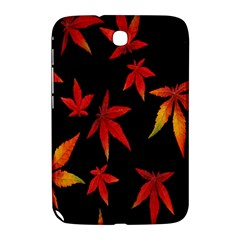 Colorful Autumn Leaves On Black Background Samsung Galaxy Note 8 0 N5100 Hardshell Case