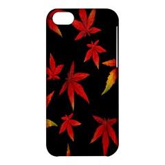Colorful Autumn Leaves On Black Background Apple Iphone 5c Hardshell Case