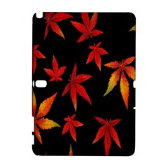 Colorful Autumn Leaves On Black Background Galaxy Note 1
