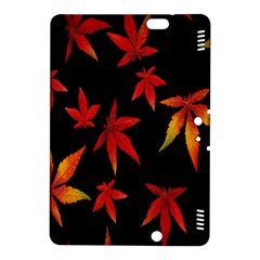 Colorful Autumn Leaves On Black Background Kindle Fire Hdx 8 9  Hardshell Case