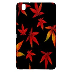 Colorful Autumn Leaves On Black Background Samsung Galaxy Tab Pro 8 4 Hardshell Case