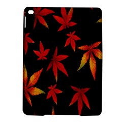 Colorful Autumn Leaves On Black Background iPad Air 2 Hardshell Cases