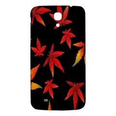 Colorful Autumn Leaves On Black Background Samsung Galaxy Mega I9200 Hardshell Back Case
