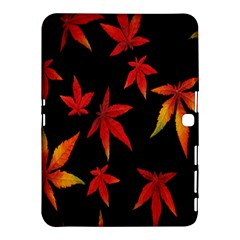 Colorful Autumn Leaves On Black Background Samsung Galaxy Tab 4 (10.1 ) Hardshell Case